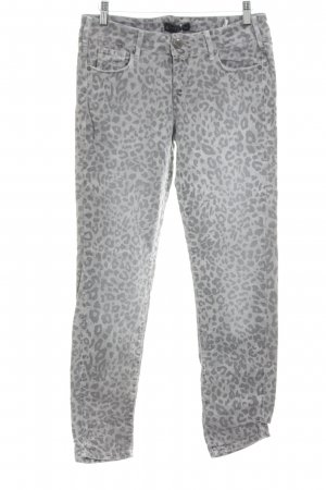 Cimarron Jeans skinny grigio chiaro Stampa leopardata stile casual