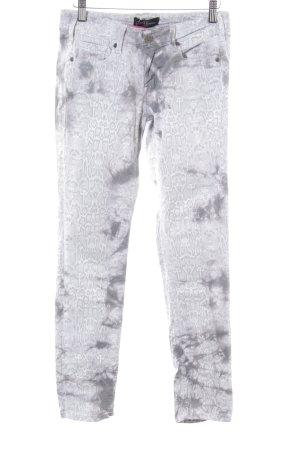 Cimarron Jeans skinny bianco-grigio chiaro stampa integrale stile casual
