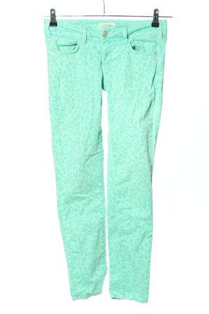 Cimarron Skinny Jeans türkis Leomuster Casual-Look