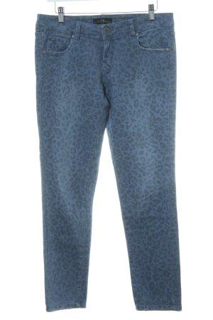 Cimarron Slim Jeans blau-dunkelgrau Leomuster Casual-Look