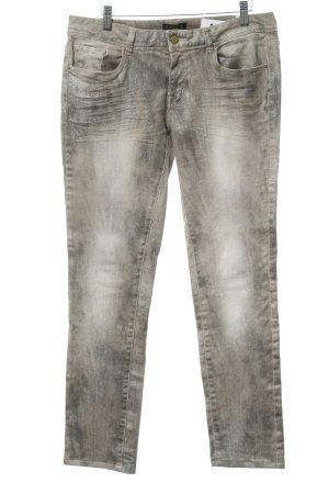 Cimarron Slim Jeans hellbraun-beige Glanz-Optik