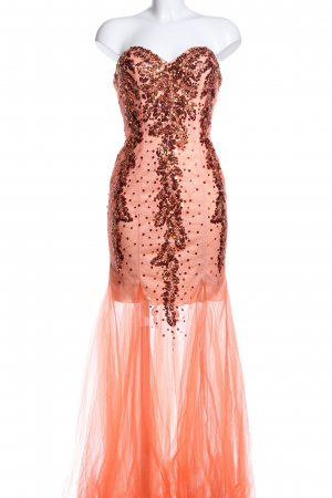 Cinderella Divine Abendkleid hellorange-rot Mustermix Elegant