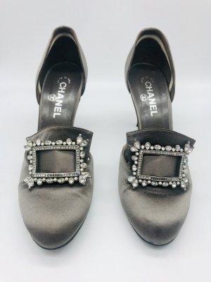 Chanel Hoge hakken grijs-zilver