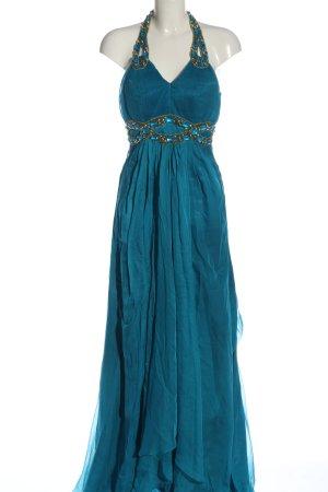 cinderella Maxi Dress blue wet-look