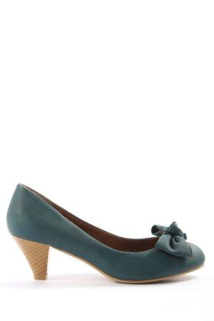 Cink Me Chaussure à talons carrés bleu-crème élégant