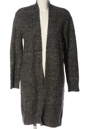cinoue Cappotto a maglia nero-bianco sporco stile casual