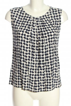 Cinque Sleeveless Blouse black-white allover print casual look