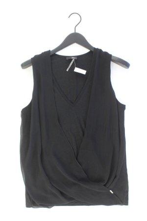 Cinque Ärmellose Bluse Größe L schwarz aus Baumwolle