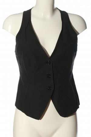 Cinque Waistcoat black striped pattern casual look