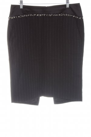 Cinque Pencil Skirt black-white striped pattern business style