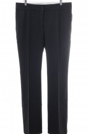 Cinque Pleated Trousers black-light grey striped pattern business style