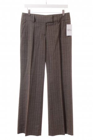 Cinque Pleated Trousers light brown-brown striped pattern business style