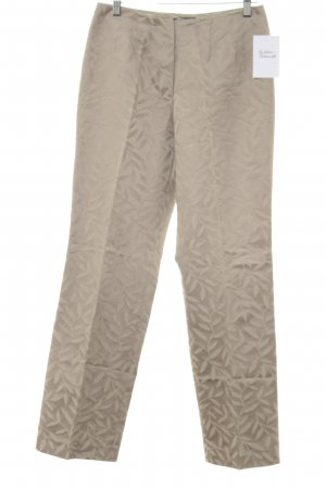 Cinque Pleated Trousers sand brown flower pattern elegant
