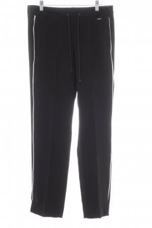Cinque Pleated Trousers black-white athletic style