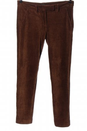 Cinque Corduroy Trousers brown striped pattern casual look
