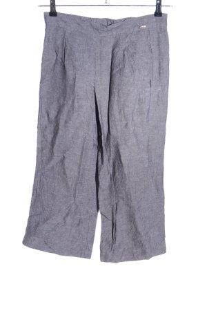 Cinque Culottes light grey weave pattern casual look