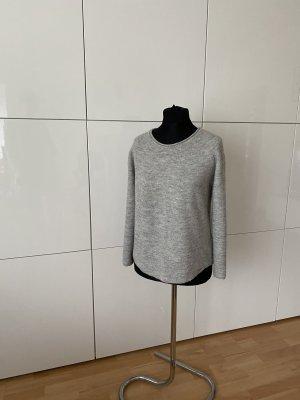 Cinque Damen Pullover S Wolle grau kurz schön Design Marke