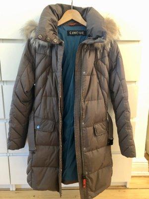 Cinque Down Coat khaki-bronze-colored pelt