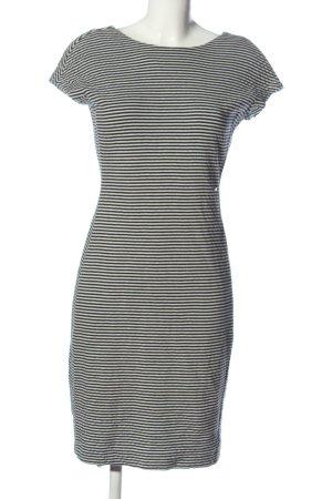 Cinque Sheath Dress black-natural white striped pattern casual look