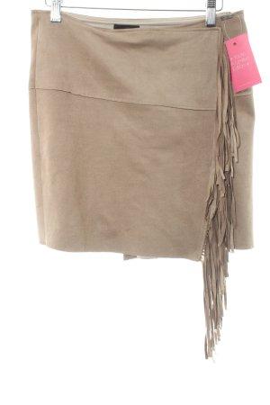 Cinque Fringed Skirt beige Logo application (metal)