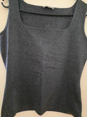 Cinque Top tipo bustier negro-gris antracita