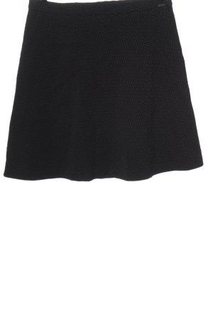 Cinque Rozkloszowana spódnica czarny-fiolet Na całej powierzchni