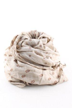 Cinque Neckerchief cream-brown allover print casual look