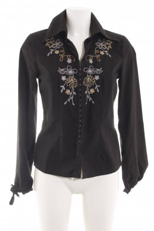 Cinque Shirt Blouse black flower pattern casual look