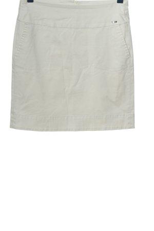Cinque Falda de talle alto blanco look casual