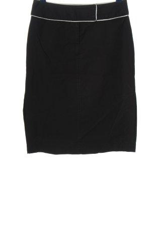 Cinque Falda de talle alto negro look casual