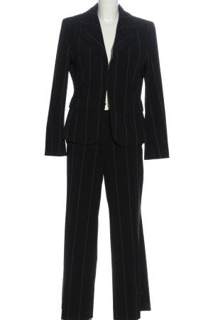 Cinque Garnitur damski czarny-w kolorze białej wełny Wzór w paski