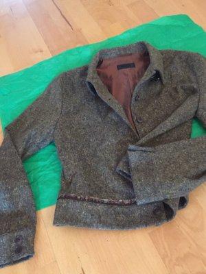 Cinque Jacke Blazer 36/38 m braun Wolle Seide Nylon Neu