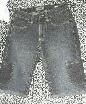 Cinque Jeansowe szorty szary-ciemnoszary Bawełna
