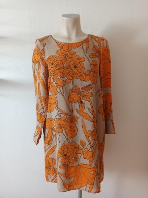 Cinque Sukienka z długim rękawem pomarańczowy