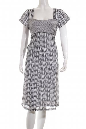 Cinque Kleid weiß-schwarz grafisches Muster Casual-Look