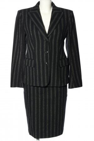 Cinque Kostüm schwarz-hellgrau Streifenmuster Casual-Look