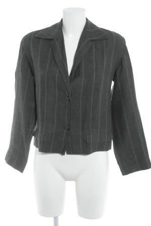 Cinque Kurz-Blazer dunkelgrün-khaki Streifenmuster klassischer Stil
