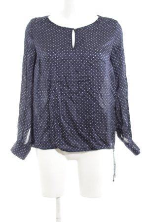 Cinque Langarm-Bluse blau-weiß Punktemuster Business-Look
