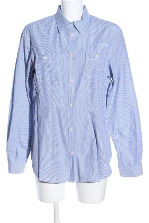 Cinque Langarmhemd weiß-blau Streifenmuster Business-Look