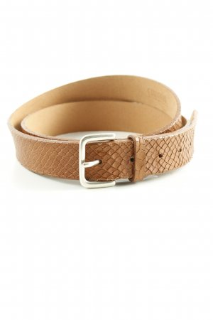 Cinque Leather Belt brown animal pattern casual look