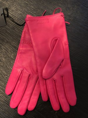 Cinque Leather Gloves pink leather