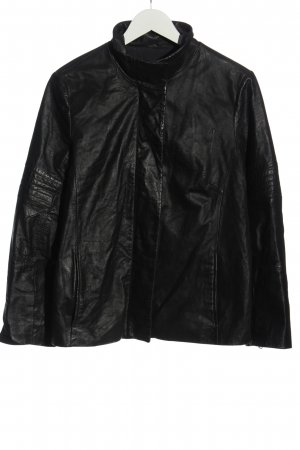Cinque Giacca in pelle nero stile casual