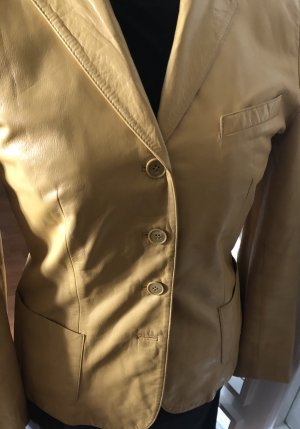 Cinque Leather Blazer yellow