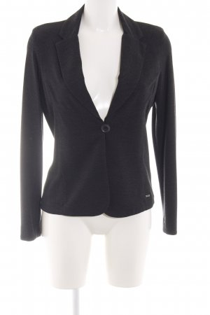 Cinque Long-Blazer schwarz Webmuster Business-Look