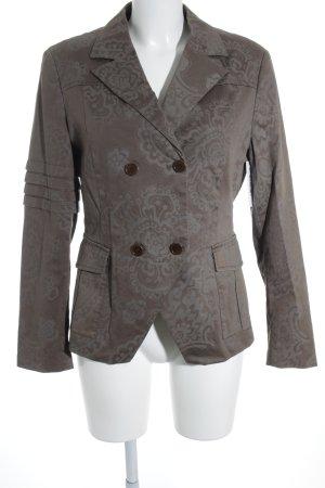 Cinque Long-Blazer grüngrau-graugrün Blumenmuster Casual-Look