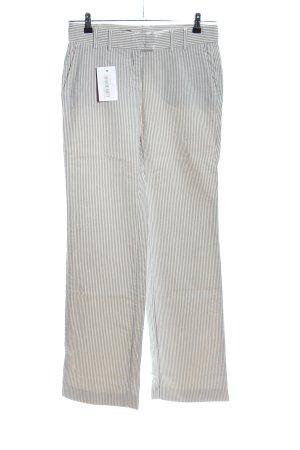 Cinque Pantalon Marlene gris clair motif rayé style décontracté