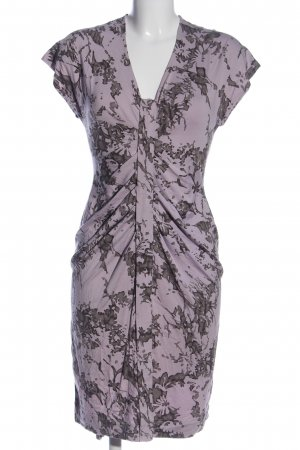 Cinque Vestido a media pierna lila-gris claro estampado con diseño abstracto