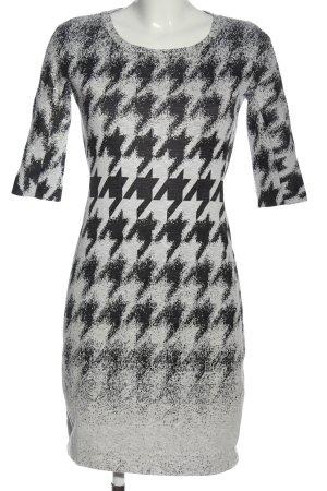 Cinque Robe courte gris clair-noir imprimé allover style décontracté