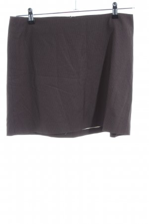 Cinque Mini rok bruin-wolwit gestreept patroon casual uitstraling