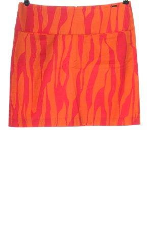 Cinque Minifalda naranja claro-rosa estampado repetido sobre toda la superficie